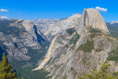 upper half: Half Dome, Yosemite National Park,  California