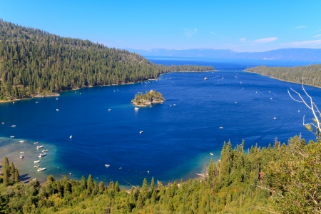 fannette: Emerald Bay, Lake Tahoe, California Stock Photo