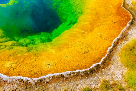 glory: Morning Glory Pool, Yellowstone National Park, Upper Geyser Basin, Wyoming Stock Photo