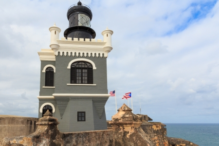 juan: San Juan, Lighthouse at Fort San Felipe del Morro, Puerto Rico