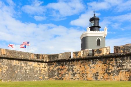 turret: San Juan, Lighthouse at Fort San Felipe del Morro, Puerto Rico