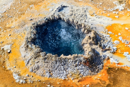 thermal spring: Yellowstone National Park, Chinese Spring in the Upper Geyser Basin, Wyoming Stock Photo