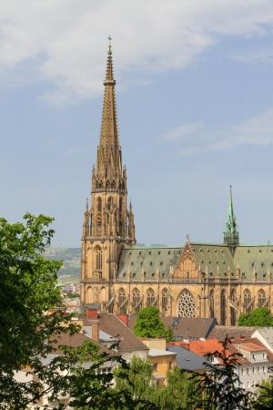 linz: Linz, New Cathedral (Neuer Dom  Mariendom), Upper Austria Stock Photo