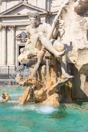 fontana: Rome, Fontana del Moro (Moor Fountain) on Piazza Navona, Italy