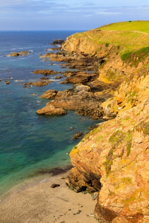 southernmost: Lizard Point is the southernmost point of the United Kingdom mainland. Stock Photo