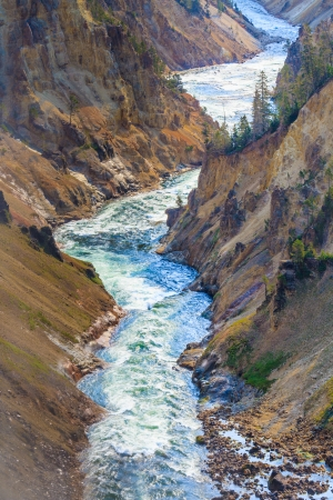 gorge: The Grand Canyon of the Yellowstone National Park, Wyoming