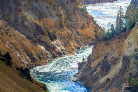 lower yellowstone falls: The Grand Canyon of the Yellowstone National Park, Wyoming
