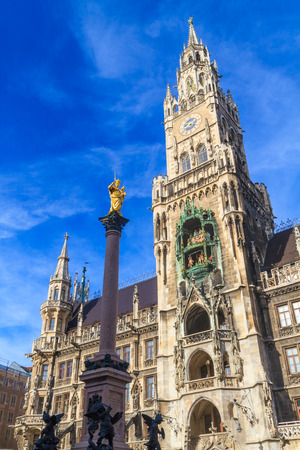 Munich, Gothic City Hall at Marienplatz, Bavaria, Germany photo