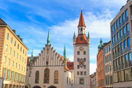 Munich, Old Town Hall with Tower, Bavaria, Germany photo
