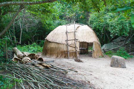 Native American wigwam hut photo