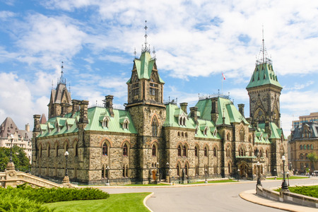 Canadian Parliament Building  gothic revival style , Ottawa, Canada photo