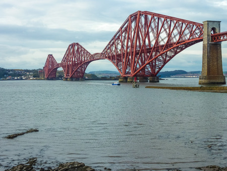 The Forth Railway Bridge near Edinburgh, Scotland photo