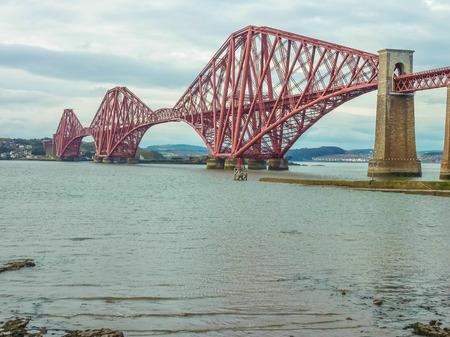 The Forth Railway Bridge near Edinburgh, Scotland photo