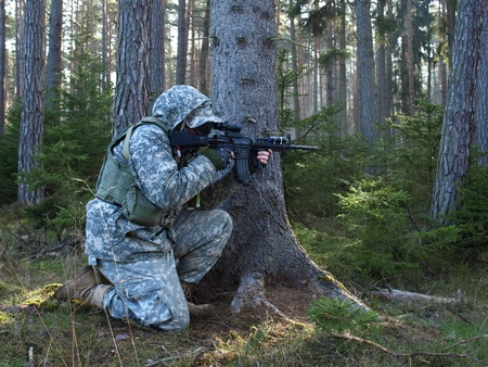 airsoft: Airsoft warior in action