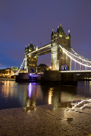 Tower bridge over the Thames in London