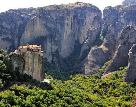 Panoramic view of Meteora Monastery, Greece