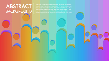 Cool background colorful abstract Poster with flat geometric pattern.Fluid shapes composition with trendy gradients.Illustrator Vector template space for text edit. Illustration