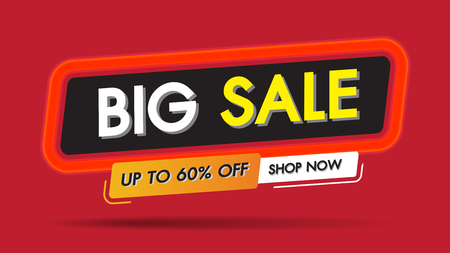 Big Sale fire burn frame template banner discount concept.Special 60% offer end of season special offer banner shop now.Vector illustration.