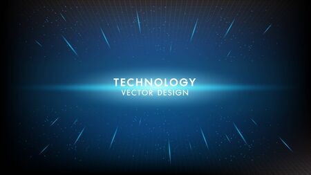 Abstract digital digital innovation technology concept vector background. Futuristic infographics aesthetic design. Visual information complexity.