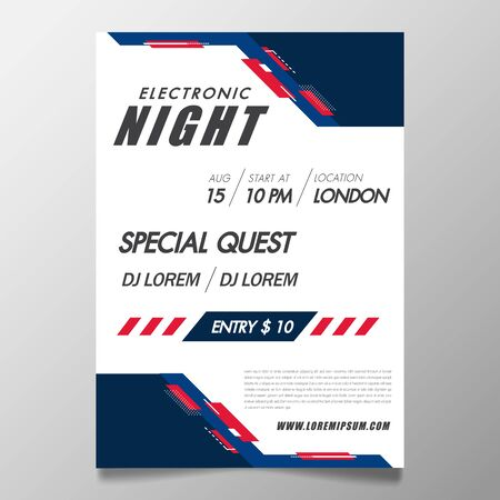 Music festival poster template night club party flyer with background with abstract geomatic shape.Background in the style of minimalism for DJ Poster, Web Banner, Pop-Up.