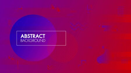Abstract modern graphic background element colorful geometric. Template for the design of a website landing page. Gradient banner composition with fluid and geometric shape and place for text or message