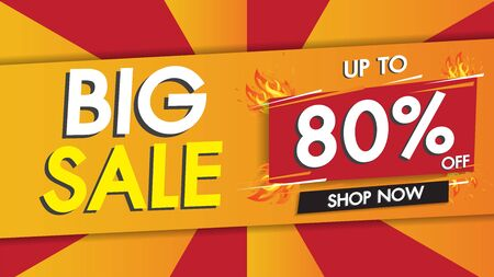 Sale banner template geometric abstract shape design with 50% big sale special discount promotion offer. Red color theme. Rounded speech end of season special offer banner.