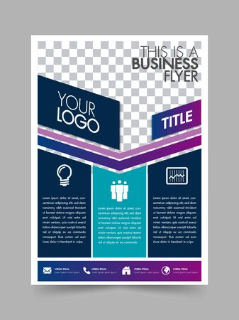 Business brochure flyer design poster layout template with white background. Ilustração