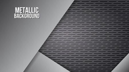 Metal background texture aluminium steel plates abstract design vector template. Illustration