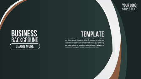 Business Abstract green background gradient design with curve shape composition.Futuristic minimal pattern place for text or message.Trendy and modern Cool banner design template.