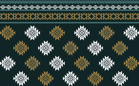 Abstract green geometric native pattern seamless vector.Repeating geometric background.Modern design trendy concept for paper, cover, fabric, interior decor and other users.