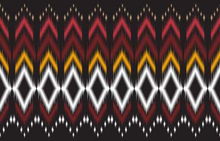 Abstract black and red geometric native pattern seamless vector.Repeating geometric background.Modern design trendy concept for paper, cover, fabric, interior decor and other users. Иллюстрация