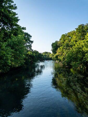 Calm river in San Marcos Texas