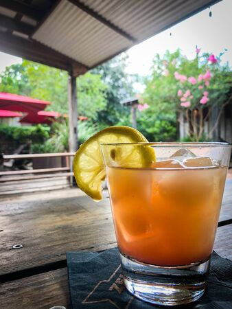 Refreshing cocktail outdoors