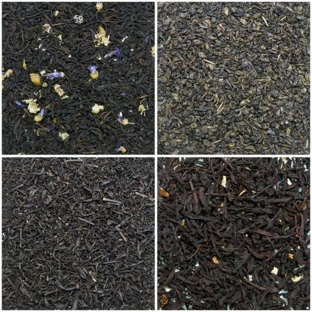 section - food and drink  tea  black, green, floral, big leaf  photo