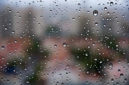 section - the windows  photographs on a rainy day  Stock Photo