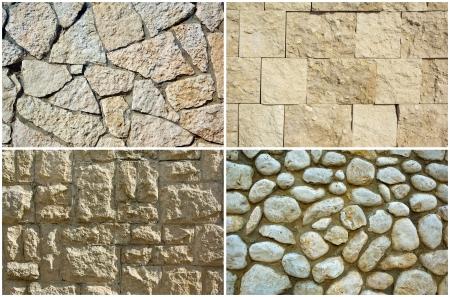 section - stones, construction, decoration materials. photo