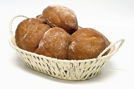 bread rolls isolated on a white background  photo