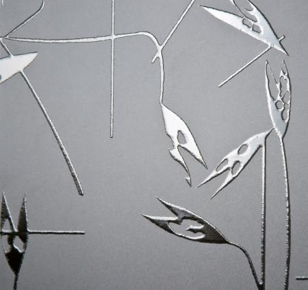 section - glass, decorative sandblasting. Stock Photo - 20312288