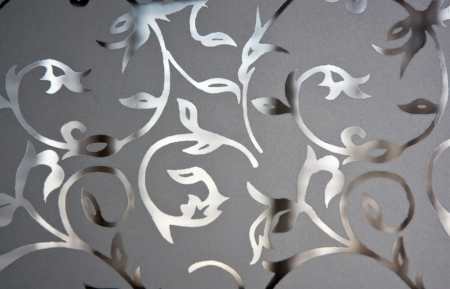 section - glass, decorative sandblasting. Stock Photo - 20337049