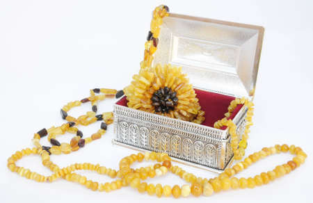 silver jewelry:  amber jewelry and silver jewelry box from europe