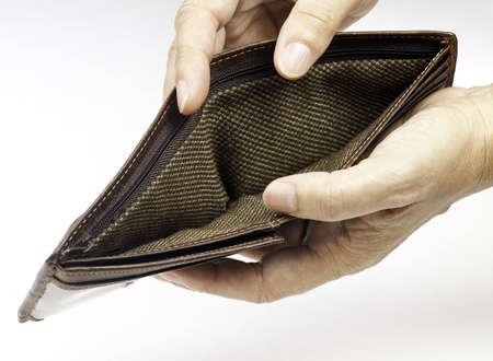 An empty wallet reresenting a bad economy Stock Photo - 7641517