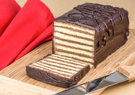 Chocolate layer cake Banco de Imagens