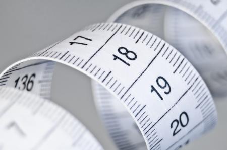 tailor measure: su misura misura di nastro closeup Archivio Fotografico
