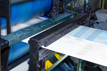 commerce and industry: Printing machine, hith speed roto offset print press, newspaper and magazine production industry
