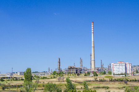 rafinery: rafinery chimney- Stock Image. petrochemical industrial plant