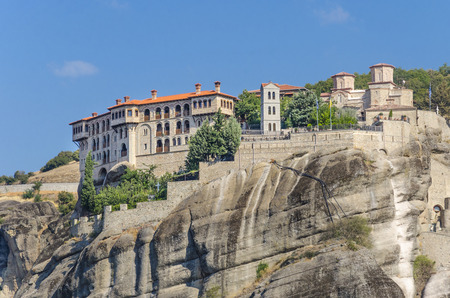 panoramatic: The Monastery of the Holy Trinity (1475), Meteora, Greece.