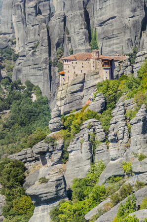 Old greek church  monastery at Meteora in Trikala region in summer, Greece  photo