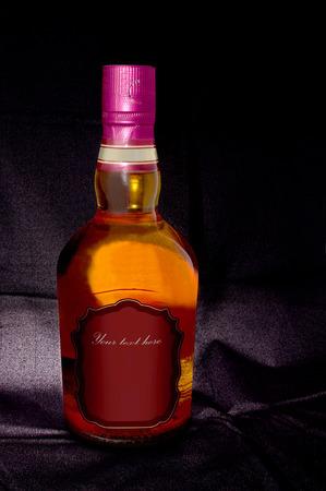 bottle label:  Isolated wine brandy bottle Stock Photo