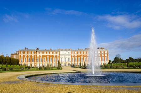 viii: Hampton Court, Richmond-Upon-Thame s, London, England. Hampton Court was originally built for Cardinal Thomas Wolsey, a favorite of King Henry VIII, circa 1514