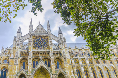 cathedral: Westminister Abbey catedral from below, London, United Kingdom